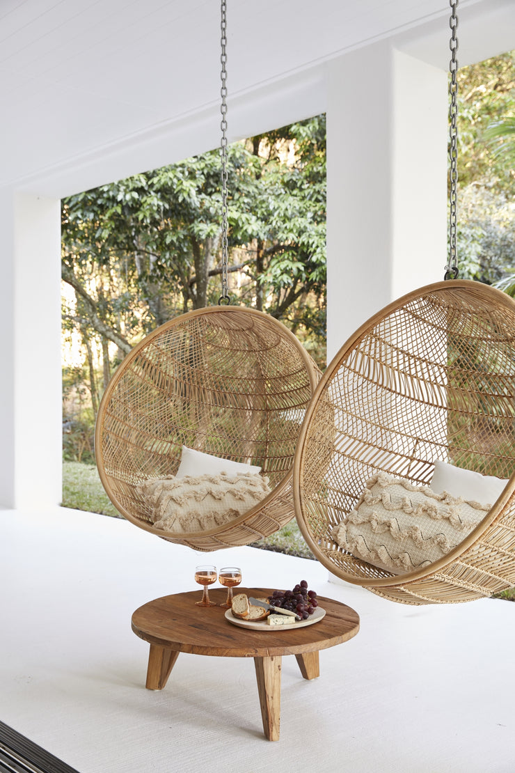 HK Living | Rattan Hanging Bowl Chair Natural Bohemian - PRE ORDER ESSENTIAL | House of Orange Melbourne