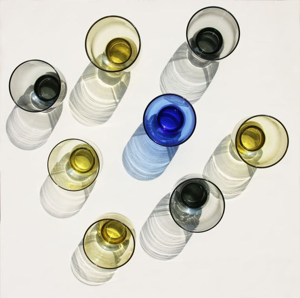 HK Living | Wine Glass | Cobalt Large Engraved | HK Living | House of Orange Melbourne