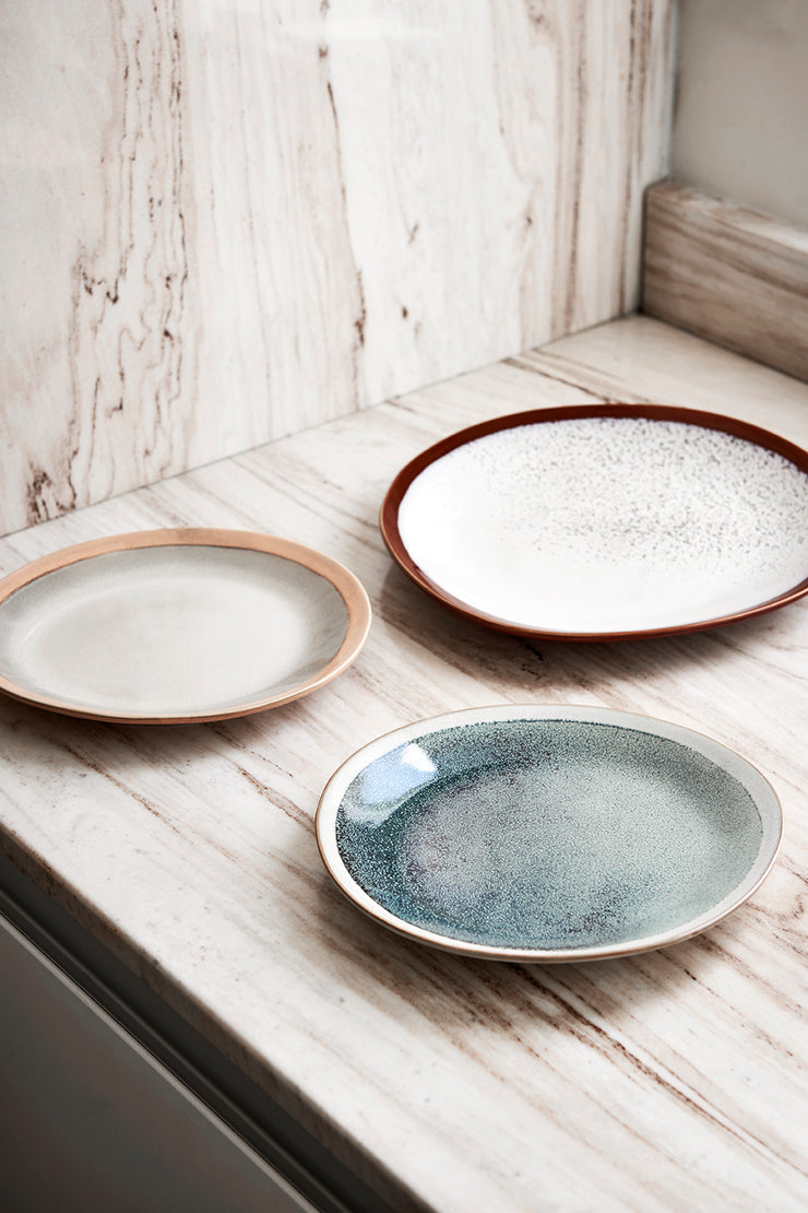 HK Living | Side Plate | 70's Ceramic Mist | HK Living | House of Orange Melbourne