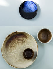 HK Living | Bold & Basics Ceramics: Organic Dessert Plate Cobalt Blue | House of Orange Melbourne