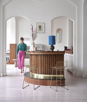 HK Living | Wire Bar Stool Brass | House of Orange Melbourne