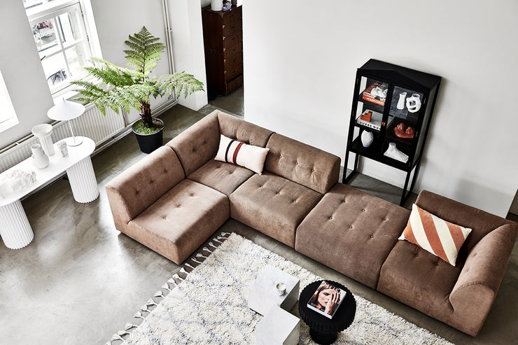 HK Living | Ottoman | Vint Element Corduroy Rib Brown | HK Living | House of Orange Melbourne