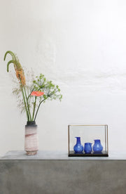 HK Living | Recycled Glass Vases Cobalt (set of 3) | House of Orange Melbourne