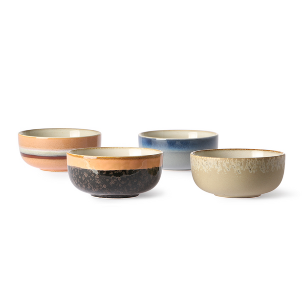 HK Living | Ceramic 70's Bowls Medium (set of 4) | House of Orange Melbourne