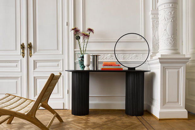 HK Living | Pillar Side Table Oval Black | House of Orange Melbourne