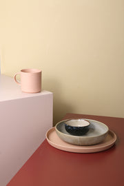 HK Living | Bold and Basic Ceramics: Speckled Ceramic Tray Peach | House of Orange Melbourne