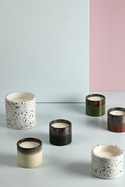 HK Living | Terrazzo Soy Candle M: Coconut Flower | House of Orange Melbourne