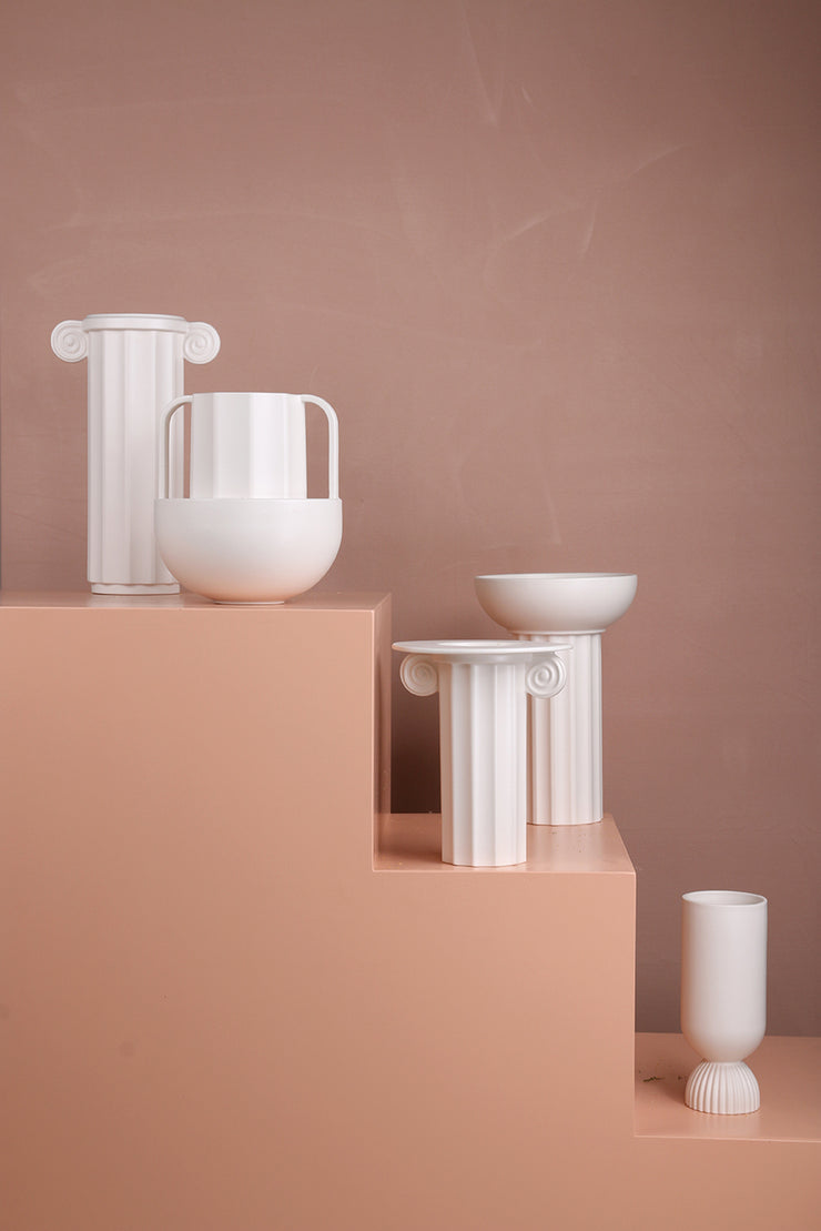 Vase | White Ceramic Greek D | HK Living