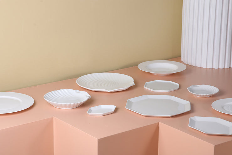 HK Living | Tray | Athena Ceramics: Bone China Shell | HK Living | House of Orange Melbourne