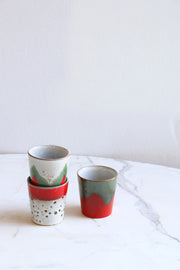 ceramic 70's mugs: the christmas t(h)ree