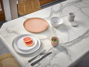 HK Living | Bold & Basic ceramics: Speckled dinner plate white | House of Orange Melbourne