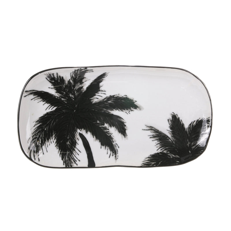 HK Living | Jungle Porcelain Serving Tray Palms | House of Orange Melbourne