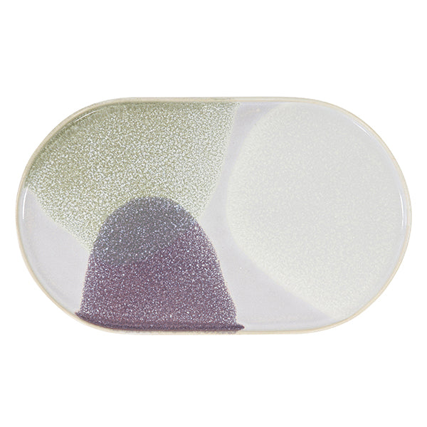 HK Living | Ceramic 80's Oval Dinner Plate Green/Lilac | House of Orange Melbourne