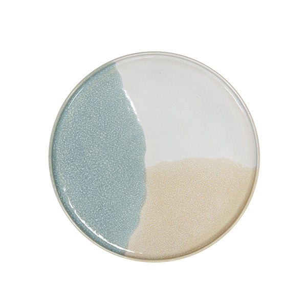 HK Living | Ceramic 80's Round Side Plate Mint/Mud | House of Orange Melbourne