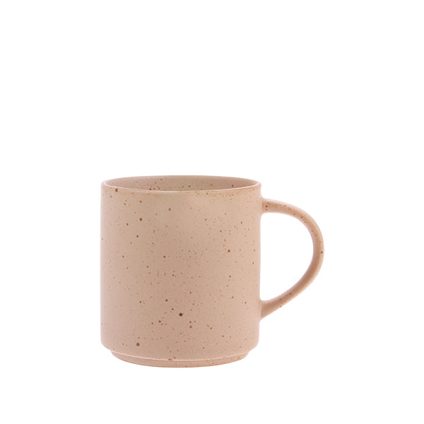 HK Living | Bold & Basic ceramics: speckled coffee mug nude | House of Orange Melbourne
