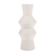 Speckled clay vase angular L