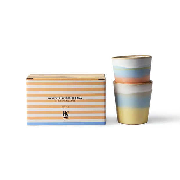 HK Living | HK Suites Special: 70's Ceramic Mugs Hotizon Set Of 2 | House of Orange Melbourne