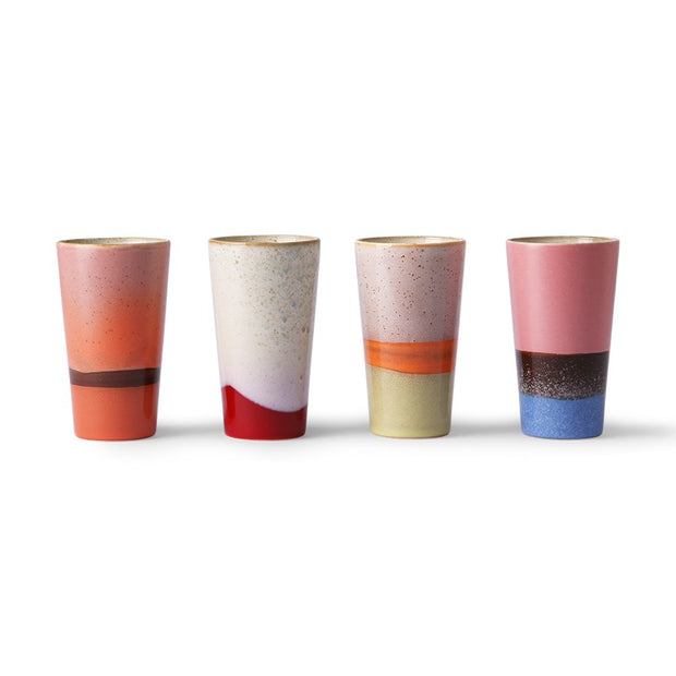 HK Living | Ceramic 70's Latte Mugs Set Of 4 | House of Orange Melbourne