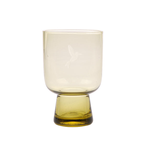 HK Living | Chartreuse Glass Large Engraved | House of Orange Melbourne
