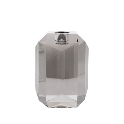 HK Living | Crystal Glass Candle Holder Grey Diamond | House of Orange Melbourne