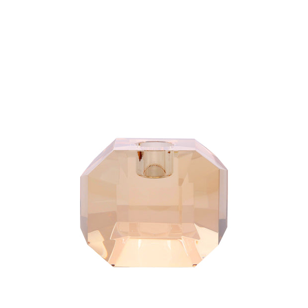HK Living | Candle Holder | Crystal Glass Amber Diamond | HK Living | House of Orange Melbourne