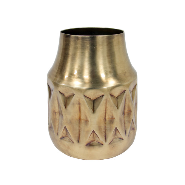 HK Old | Geo Brass Vase | House of Orange Melbourne