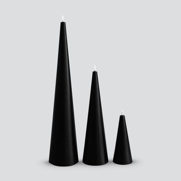 Cone Candle Black Large