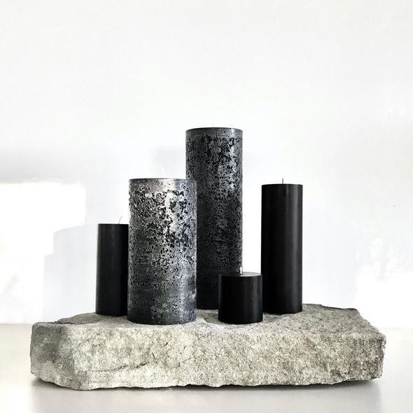 Pillar Candle Black Medium
