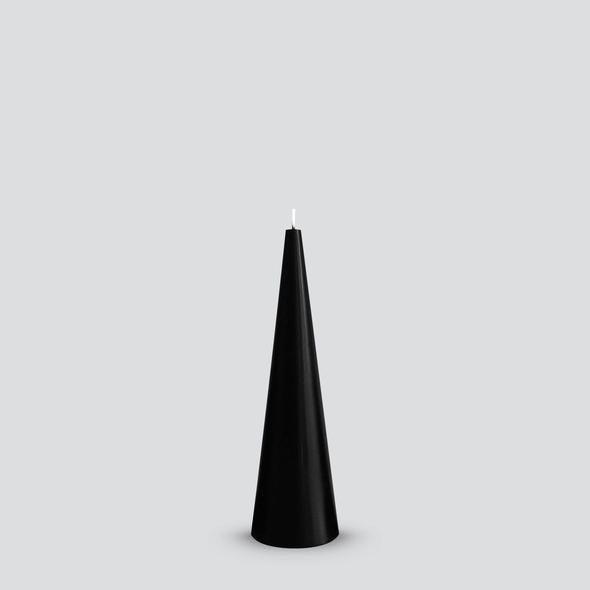 Cone Candle Black Medium