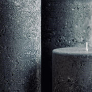 Textured Candle Grey Small