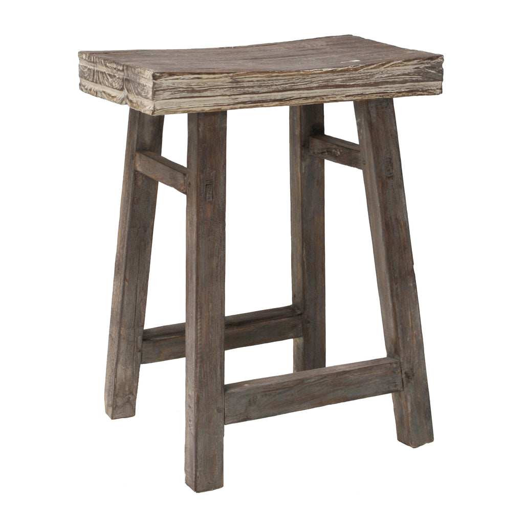 Stool Reclaimed Teak Rustic