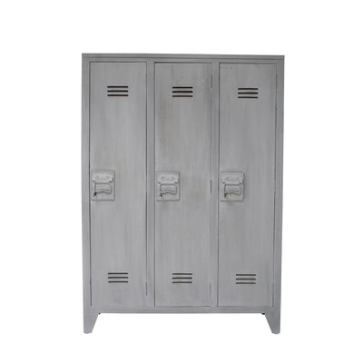 HK Living | Locker | 3 Door Wood Grey | HK Living | House of Orange Melbourne