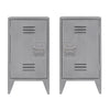 Bedside Table Grey, set of 2