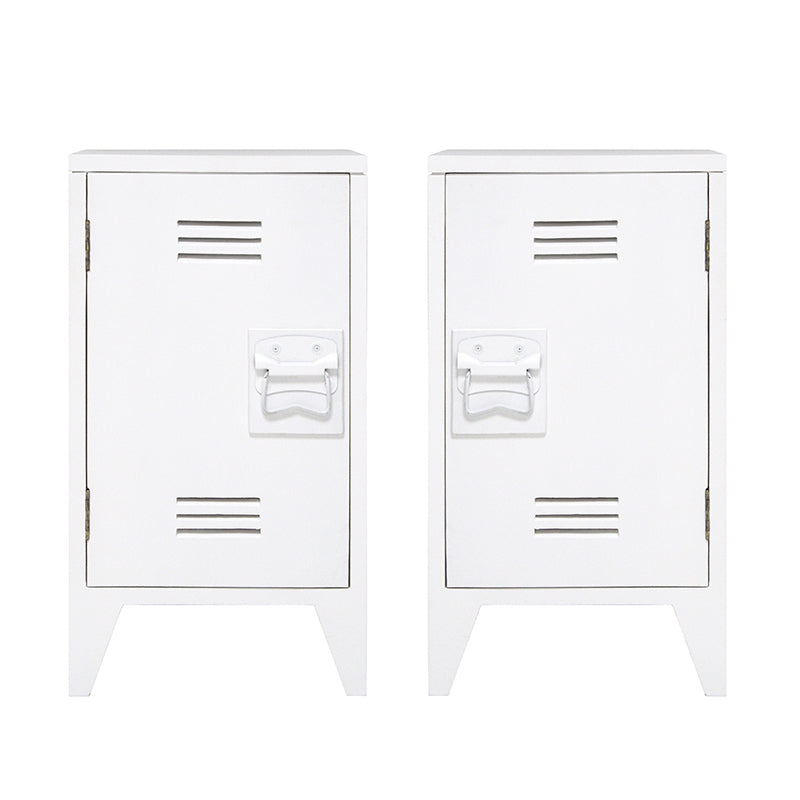 Bedside Table White, set of 2