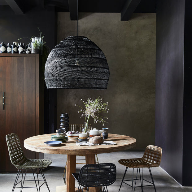 HK Living | Hanging Ball Lamp | Black Wicker Large | HK Living | House of Orange Melbourne