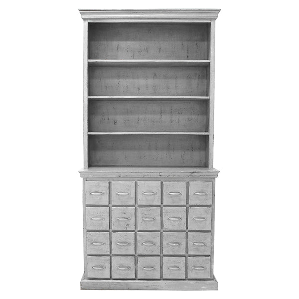 Drawer Cabinet Antique Look Grey - House of Orange
