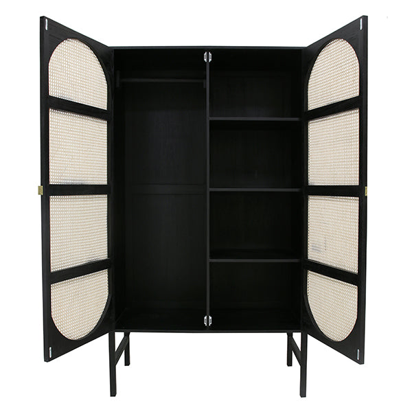 HK Living | Retro Webbing Cabinet Black | House of Orange Melbourne