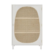 Webbing Single Door Cabinet White