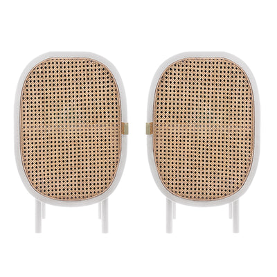 HK Living | Bedside Cabinet | Webbing White (Set of 2) | HK Living | House of Orange Melbourne