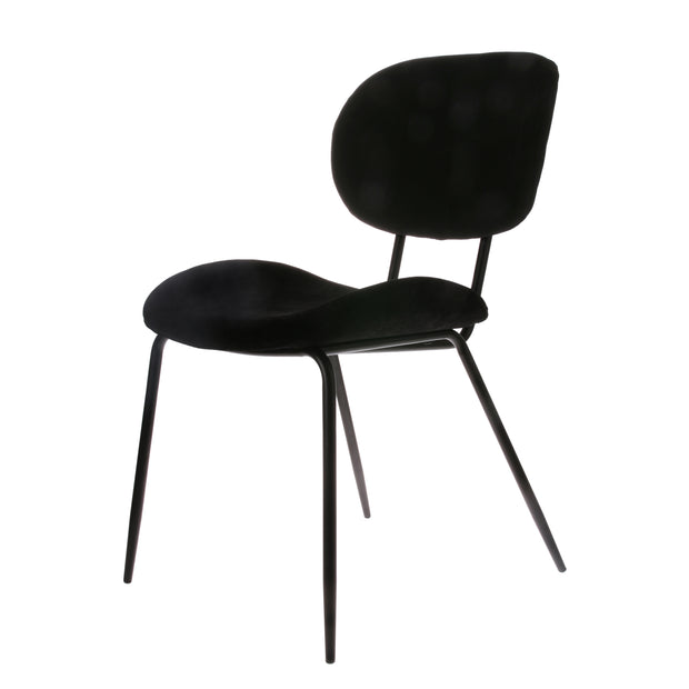 HK Living | Dining Chair | Velvet Rib Black | HK Living | House of Orange Melbourne