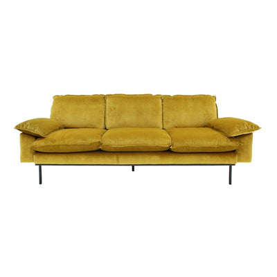 HK Living | Retro Sofa 4-Seater Ochre | House of Orange Melbourne