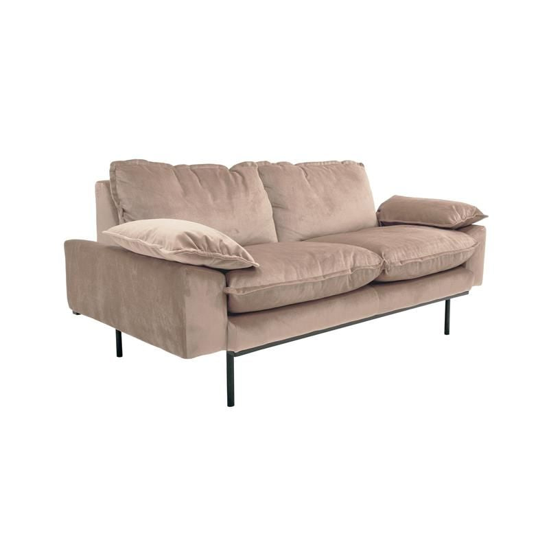 Retro sofa 2-seater Nude