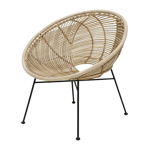 Rattan Ball Lounge Chair Natural