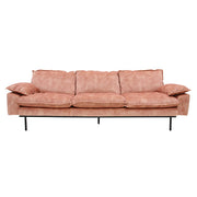 Retro Sofa 3 Seats Vintage Velvet Old Pink - House of Orange