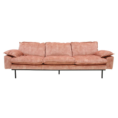 HK Living | Retro Sofa 3 Seats Vintage Velvet Old Pink | House of Orange Melbourne