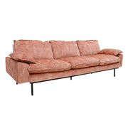 HK Living | Retro Sofa 4 Seats Vintage Velvet Old Pink | House of Orange Melbourne