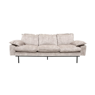 HK Living | Sofa | Retro 3 Seats Vintage Velvet Creme White | HK Living | House of Orange Melbourne
