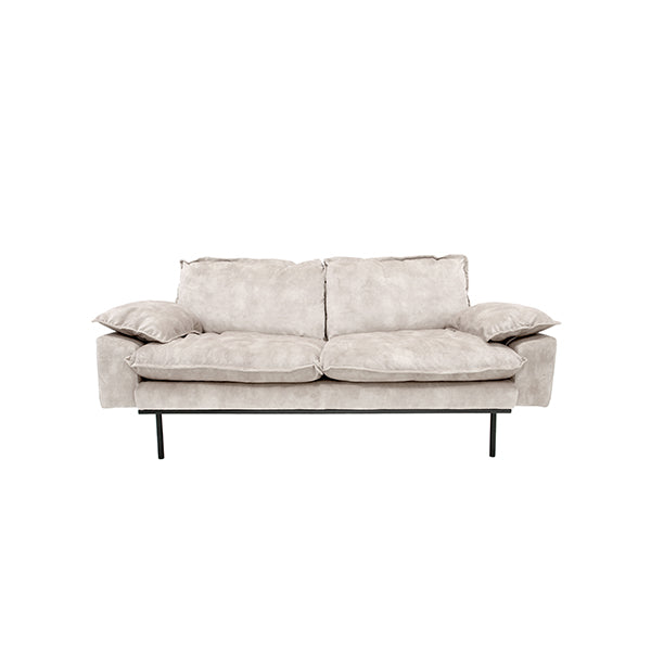 HK Living | Retro Sofa 2 Seats Vintage Velvet Creme White | House of Orange Melbourne
