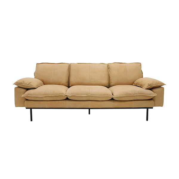 HK Living | Retro Sofa 3 Seats Leather Natural | House of Orange Melbourne