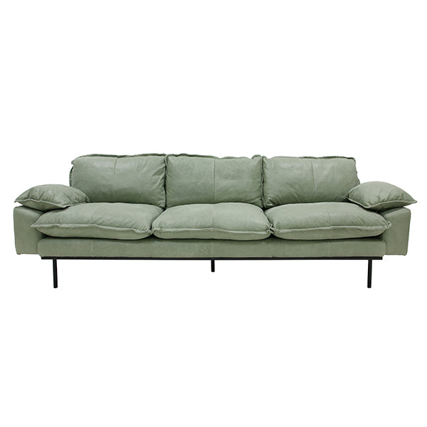 HK Living | Retro Sofa 4 Seats Leather Mint Green | House of Orange Melbourne